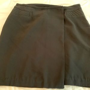 Black wrap skirt, Worthington